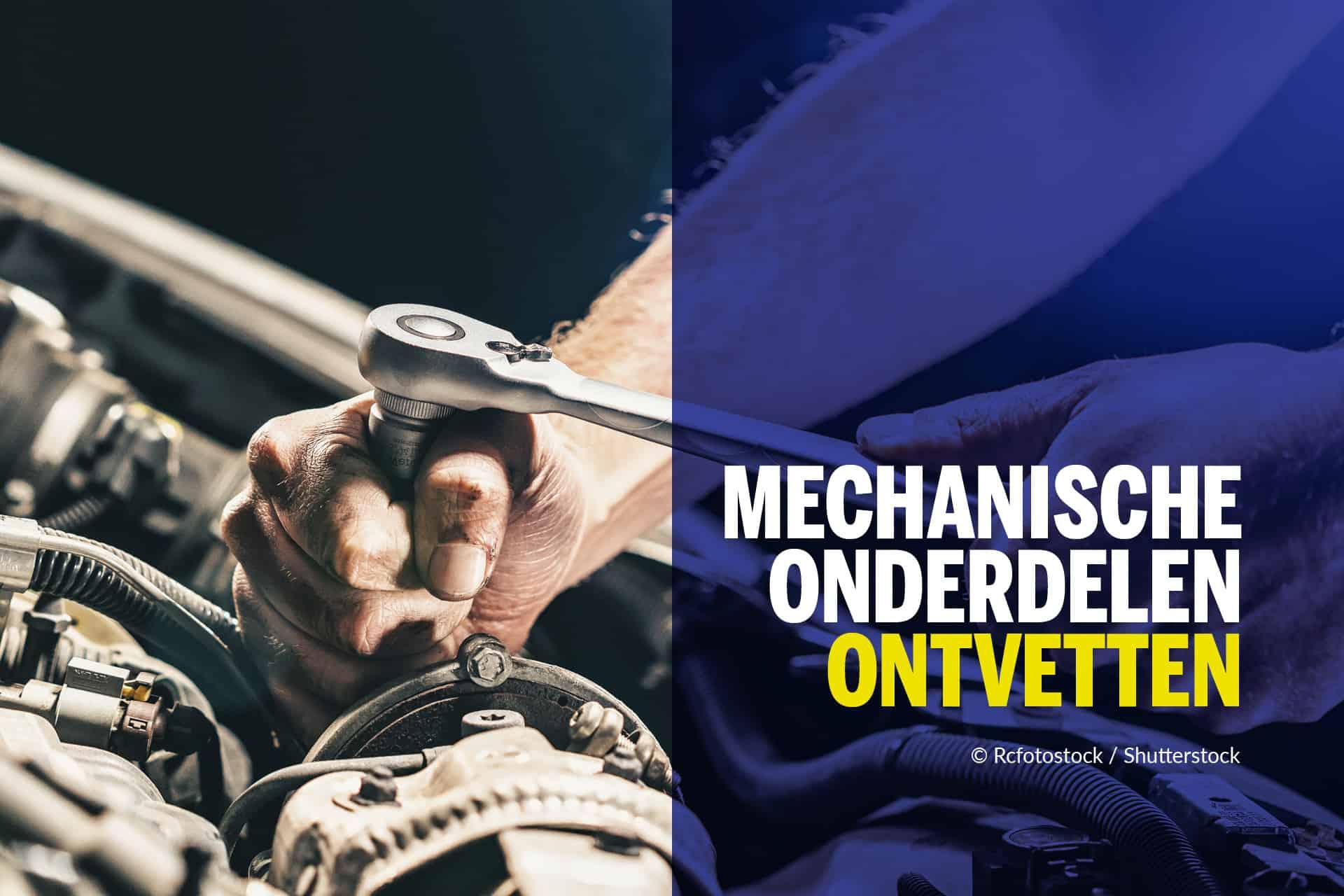 Mechanische onderdelen ontvetten