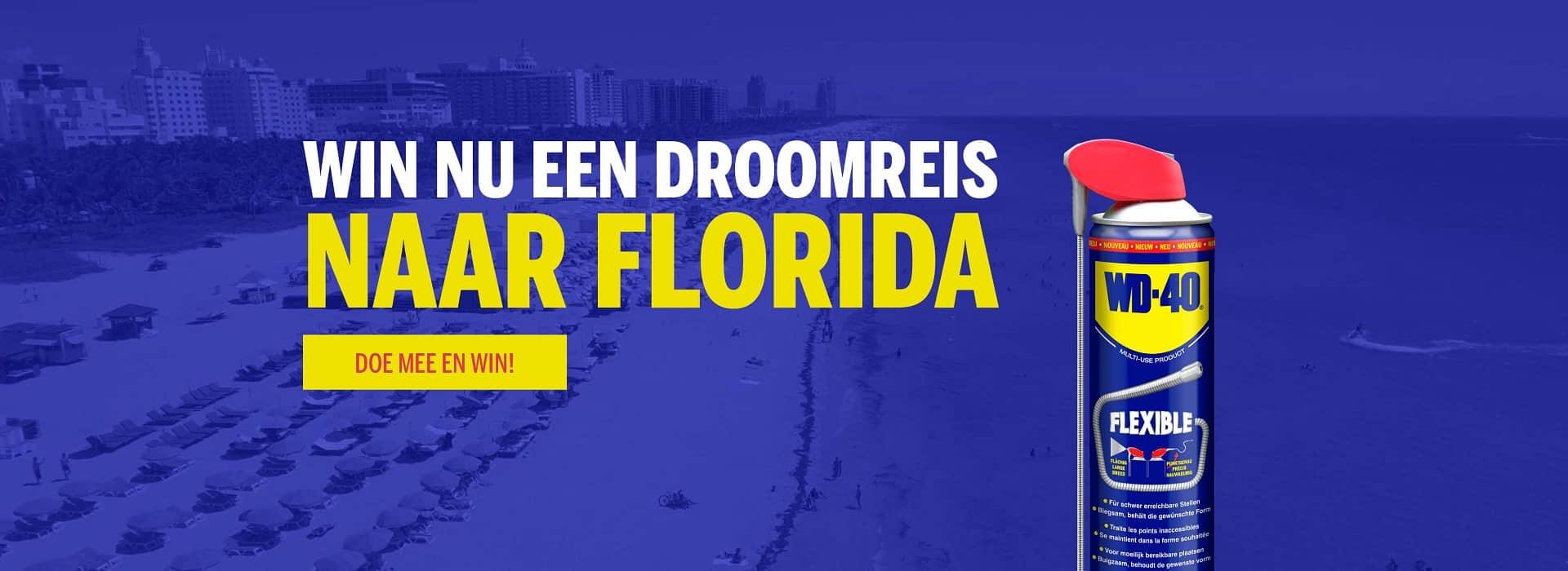Doe nu mee aan de WD-40 Road Trip Competitie en maak kans op een reis naar Florida!