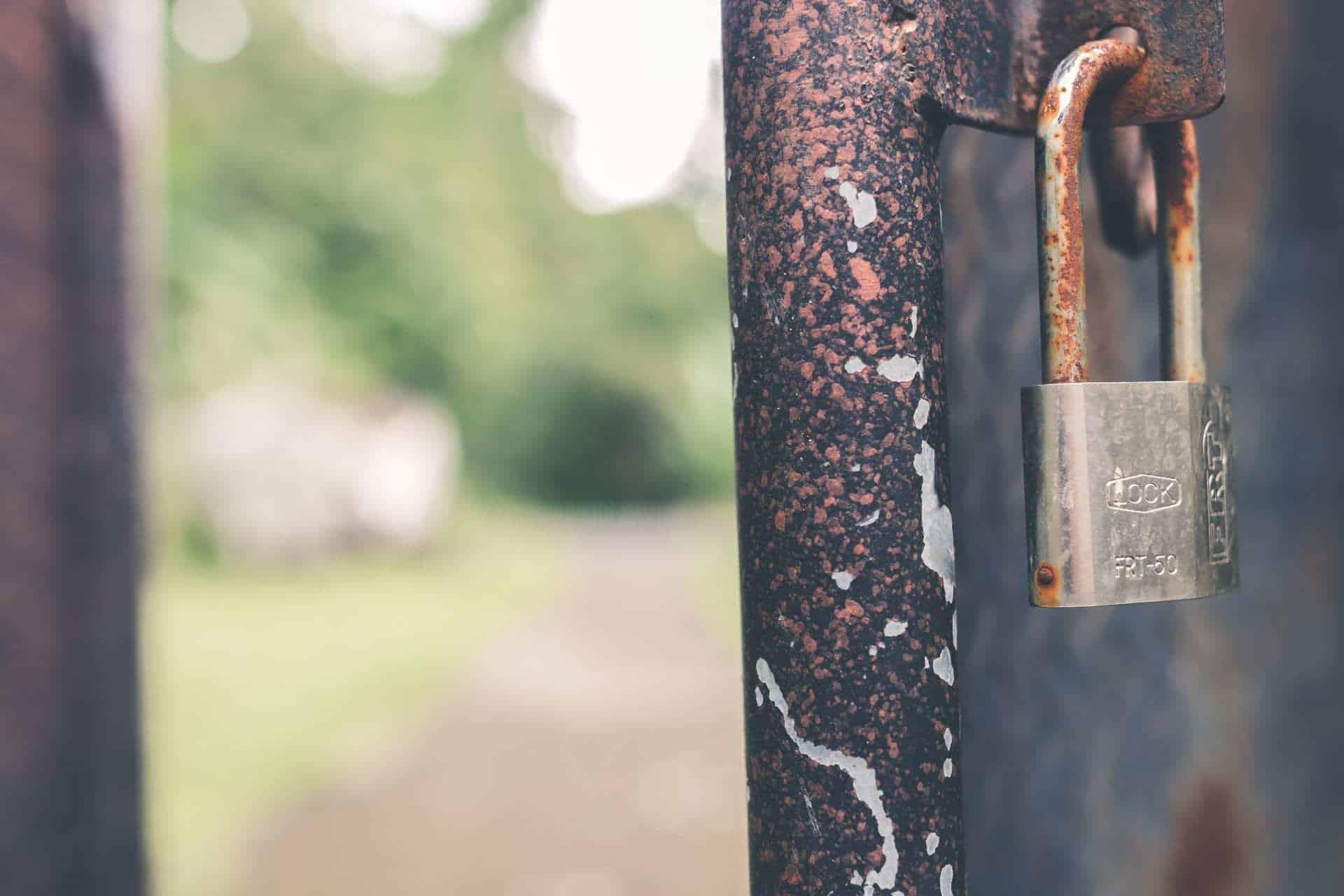 Roest en corrosie hangslot